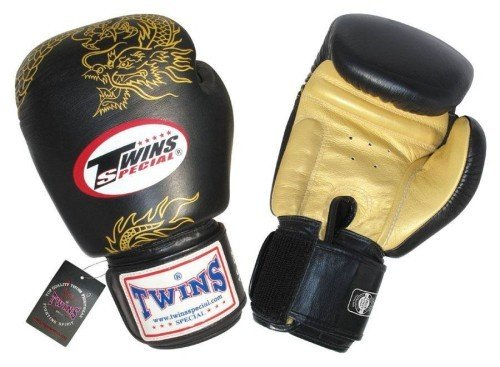 TWINS BOXING GLOVES NEGRO-DORADO