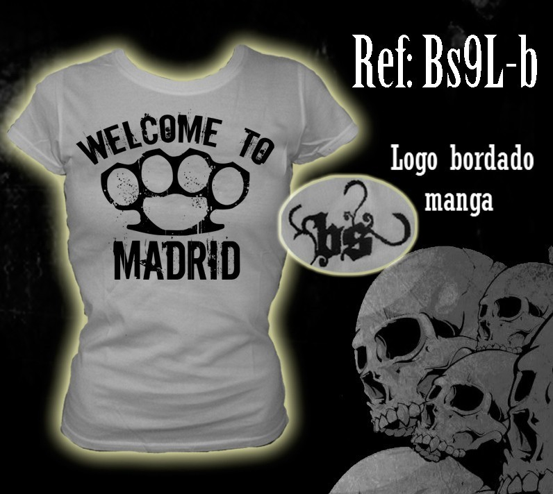 CAMISETA BLOODSHEDS WELCOME TO MADRID BLANCA CHICA