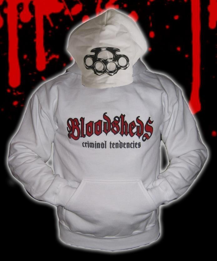 SUDADERA BLOODSHEDS CRIMINAL TENDENCIES BLANCA