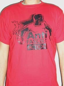 CAMISETA KAMILOSETAS ANTIFASCIST ACTION CHICO