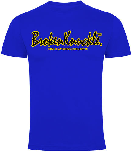 CAMISETA BROKEN KNUCKLE CLASICA AZUL CHICO