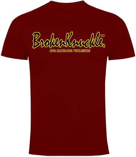 CAMISETA BROKEN KNUCKLE CLASICA GRANATE CHICO