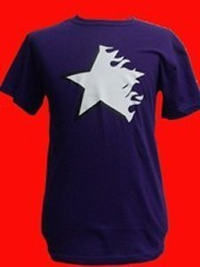 CAMISETA FIRE AND FLAMES FLAMING STAR, MORADA ESTRELLA BLANCA CHICO