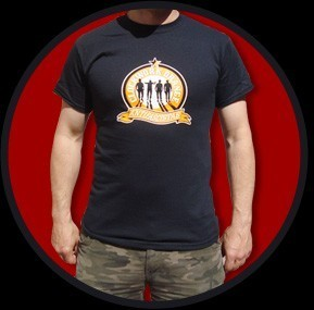 CAMISETA URBAN BLOOD CLOCKWORK ORANGE ANTIFASCISTAS CHICO