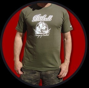 CAMISETA URBAN BLOOD PITBULL VERDE CHICO