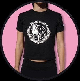 CAMISETA URBAN BLOOD STAFFORDSHIRE NEGRA CHICA
