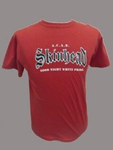 CAMISETA SKINHEAD GOOD NIGHT WHITE PRIDE ROJA CHICO