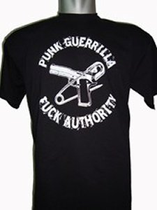 CAMISETA PUNK GUERRILLA FUCK AUTHORITY CHICO