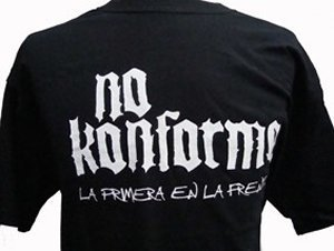CAMISETA NO KONFORME NEGRA CHICO