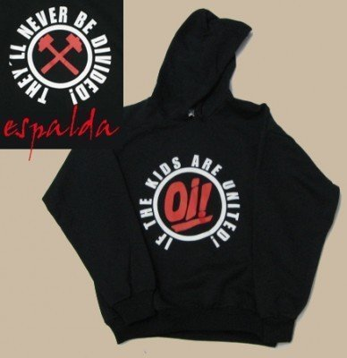 SUDADERA OI! THE KIDS ARE UNITED CON CAPUCHA