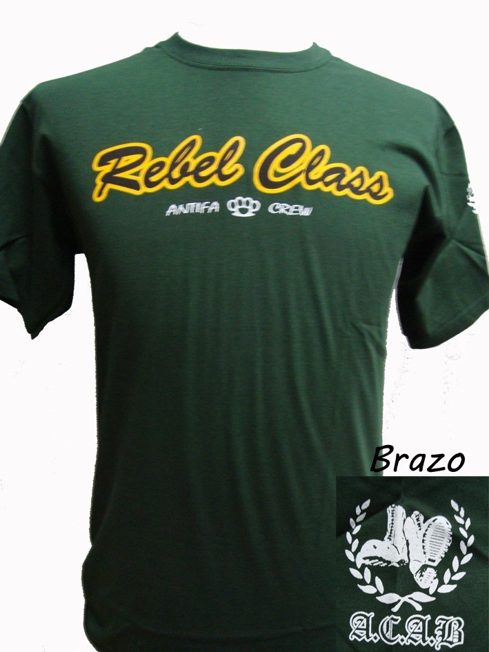 CAMISETA REBEL CLASS ANTIFA CREW-VERDE CHICO