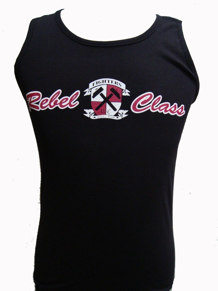 CAMISETA REBEL CLASS FIGHTERS SIN MANGAS CHICO NEGRA