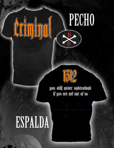 CAMISETA BLOODSHEDS CRIMINAL CHICO