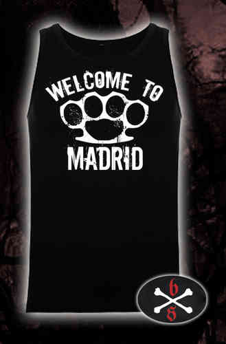CAMISETA BLOODSHEDS TIRANTES WELCOME TO MADRID NEGRA CHICO