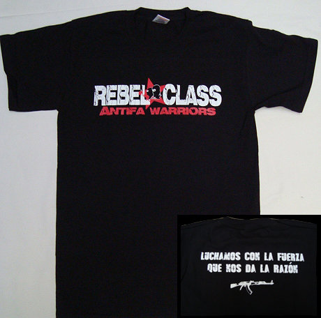 CAMISETA REBEL CLASS ANTIFA WARRIORS CHICO