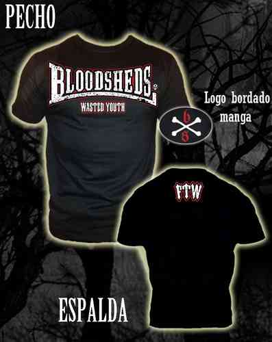 CAMISETA BLOODSHEDS WASTED YOUTH CHICO