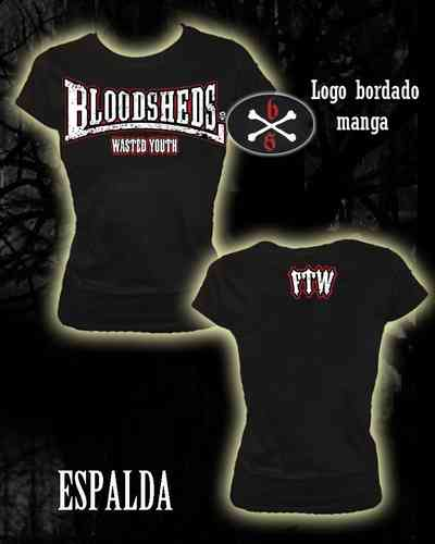 CAMISETA BLOODSHEDS WASTED YOUTH CHICA
