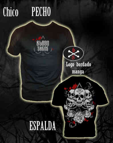 CAMISETA BLOODSHEDS PICA MEXICANA CHICO