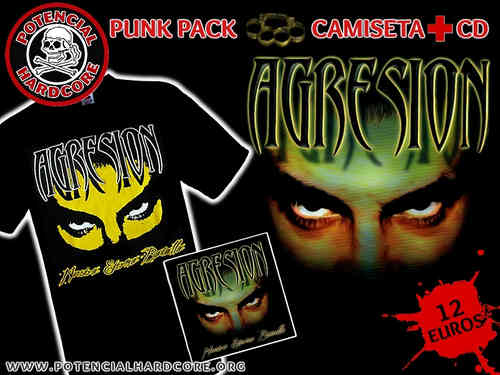 "PACK OFERTA CAMISETA AGRESION + CD ""NUESTRA ETERNA BATALLA"""