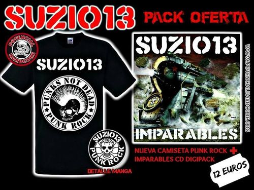 "PACK OFERTA CAMISETA SUZIO 13 CHICO + CD ""IMPARABLES"""