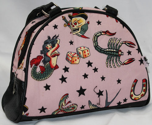BOLSO PEQUEÑO (BOWLING) ROSA OLD SCHOOL