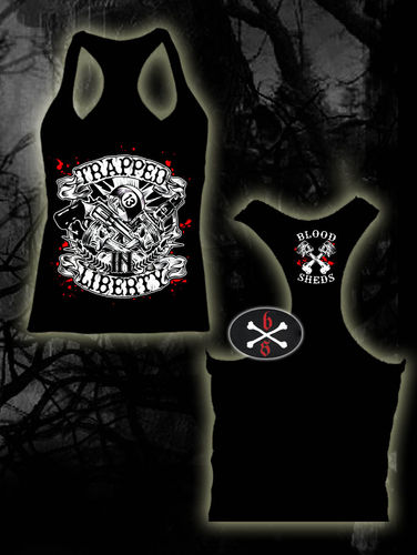 CAMISETA BLOODSHEDS TRAPPED IN LIBERTY CHICA TIRANTES