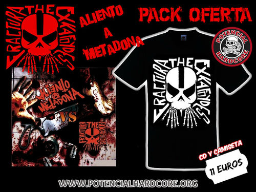 PACK OFERTA CAMISETA CHICA FRAKTURA THE EXKAFOYDES + CD