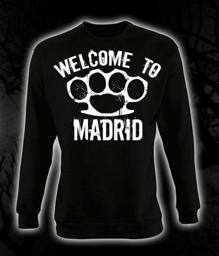 "SUDADERA BLOODSHEDS ""WELCOME TO MADRID"" NEGRA SIN CAPUCHA"