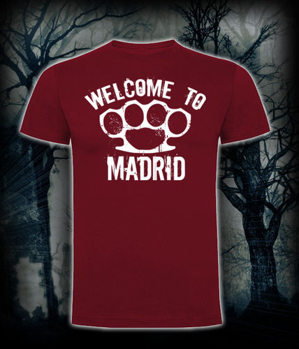 CAMISETA BLOODSHEDS WELCOME TO MADRID GRANATE