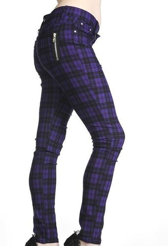 PANTALON ESCOCES MORADO