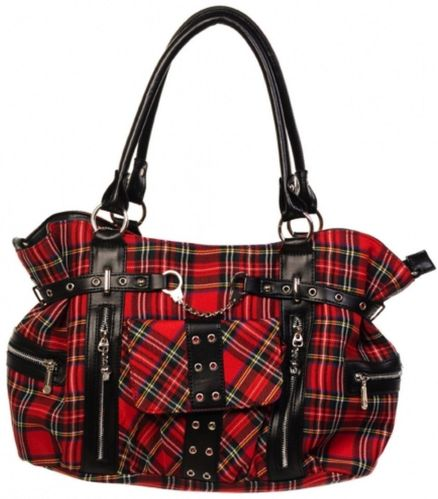 BOLSO BANNED ESCOCES ROJO GRANDE