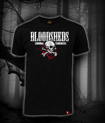 CAMISETA BLOODSHEDS CALAVERA CRIMINAL TENDENCIES